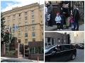 České veľvyslanectvo v Moskve. Pracovníci sa lúčia a odchádzajú.