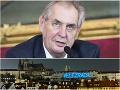 Ostrá reakcia na Zemanovo mlčanie k Rusku: FOTO Velezrada! Veľký nápis na Pražskom hrade