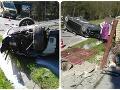 Mrazivé FOTO nehody pri Čadci: Auto po náraze skončilo na streche! Desivé zistenie polície
