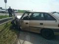 FOTO Dopravná nehoda pri Piešťanoch: Cesta I/61 v smere na Drahovce je uzavretá