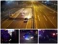 VIDEO z nočnej naháňačky v Bratislave: Šialencovi na BMW musel policajt rozbiť okno