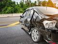 Auto skončilo po nehode