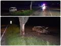 Desivé FOTO po tragickej nočnej jazde: Havarované auto zachvátili plamene, vodič nemal šancu