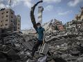 Zničené budovy v Gaze