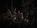 Palestínčania v uliciach oslavujú