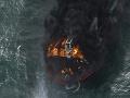 Požiar lode na Srí