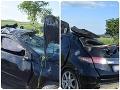 Hrozný priebeh nehody: Auto s vodičom (28) vymrštilo do vzduchu, museli pri ňom stáť anjeli strážni
