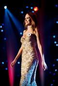 Súťažiaca s číslom 7 Miriama Matúšová (druhá Vicemiss) na Miss Universe 2011