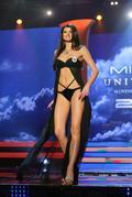 Finalistka č.12 Dagmar Kolesárová sa stala Miss Universe SR 2011, k čomu jej dopomohla aj takáto štíhla postava.