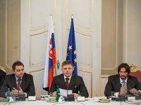Peter Kažimír, Robert Fico a Robert Kaliňák