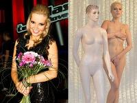 Markéta Poulíčková stratila zábrany a do obchodného výkladu sa postavila úplne nahá.