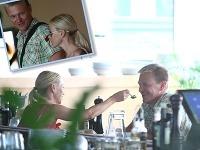 Martin Nikodým má už rok po svojom boku blondínku Martinu.