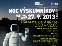 FESTIVAL VEDY – Noc výskumníkov 2013