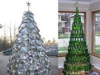 Stromček sa dá urobiť aj z puklíc alebo fliaš