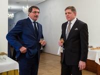 Predseda NR SR Pavol Paška a predseda vlády SR Robert Fico počas vyhodnotenia roku 2013