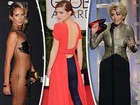 Celebrity svetového formátu aj tento rok okorenili odovzdávanie Zlatých glóbusov pikantnými trapasmi.