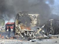 Zrážka autobusu v Argentíne