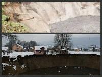 Jazero pred tromi mesiacmi a teraz.