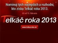V ankete Telkáč roka 2013 prebieha práve prvé kolo hlasovania.