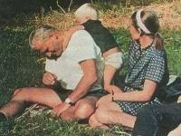Pápež Ján Pavol II. s údajnou milenkou a synom