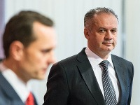 Neúspešný kandidát na prezidenta SR Radoslav Procházka a kandidát na prezidenta SR Andrej Kiska