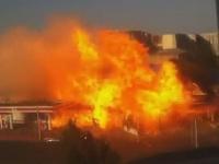 Explózia čerpacej stanice v hlavnom meste ruskej republiky Dagestan