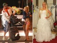Len necelý mesiac po letiskovom škandále s neverou si farmárka Jana Kallayová skúšala svadobné šaty.