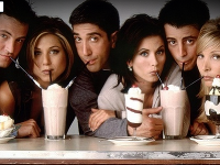 Zľava: Matthew Perry (Chandler), Jennifer Aniston (Rachel), David Schwimmer (Ross), Courtney Cox (Monica), Matt LeBlanc (Joey) a Lisa Kudrow (Phoebe)