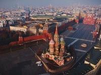 Pohľad na Kremeľ z vtáčej perspektívy.