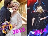 Kelly Clarkson v priebehu roka výrazne pribrala.