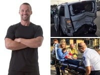 Chris Powell a jeho rodina včera prežili hrozivú autonehodu.