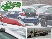 Bratislavu prekvapil sneh.