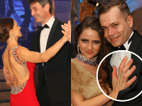 Primátor Bratislavy Ivo Nesrovnal (vľavo) povykrúcal partnerku Mirku. Bývalá superstaristka Natália Hatalová ukázala partnera a snubný prsteň.