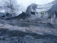Požiar firmy v Dubnici nad Váhom
