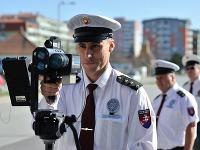Policajný radar počas dopravno-preventívnej akcie Rýchlostný maratón, ktorá sa koná v 22 európskych štátoch združených v Medzinárodnej stavovskej organizácii TISPOL.