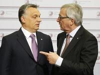 Viktor Orban a Jean-Claude Juncker