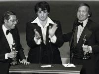 Robert Chartoff (vpravo) aj so Sylvestrom Stallonem
