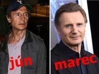 Liam Neeson v priebehu pár mesiacov drasticky schudol.