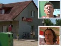 Na obrázku je miestny podnik, hore je postrelený Ján, pod ním majiteľ baru Andrej