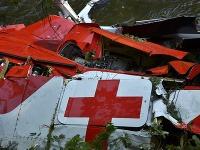 Miesto tragickej nehody záchranárskeho vrtuľníka.