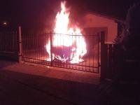 požiar auta v Kysuckom Novom Meste