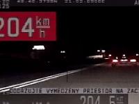 Vodičovi namerali  rýchlosť 204 km/h