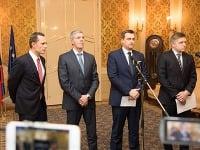 Radoslav Procházka, Béla Bugár, Andrej Danko a Robert Fico