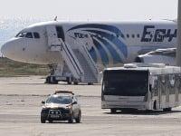 Unesené lietadlo spoločnosti EgyptAir