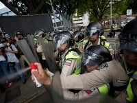 Demonštrácia v Caracase