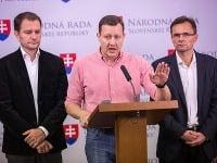 Igor Matovič, Daniel Lipšic a Ľubomír Galko