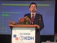 Nový predseda KDH Alojz Hlina