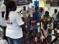 Južný Sudán, MAGNA vakcinačné centrum v utečeneckom tábore v Jube.