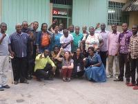 Kongo | 2016 | Tím MAGNA pracovníkov v Kinshase so Sophie Demay uprostred.