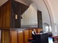 Na snímke vzácny hudobný nástroj - organ v  Kostole v obci Ruskov